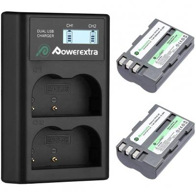 Powerextra EN-EL3E Batteria Compatibile 2200mAh 7.4V